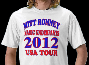 Mitt Romney Mormon MAGIC UNDERPANTS Tshirts